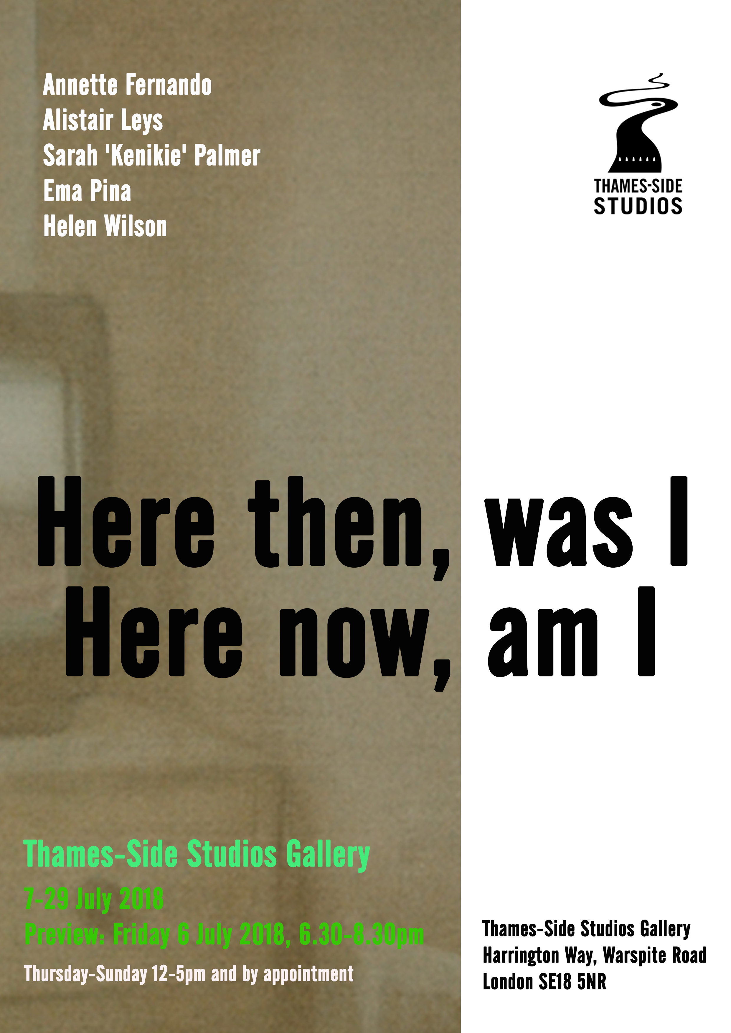 Here then, was I Here now, am I Poster